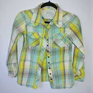 Mossimo Long Sleeved Button Up Shirt Girls LG
